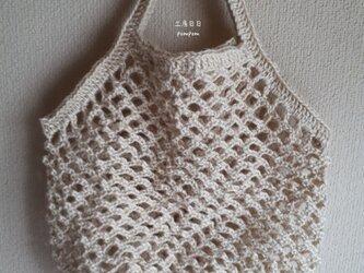 『pompom』Net Bag L (麻ひも/オフ白)の画像