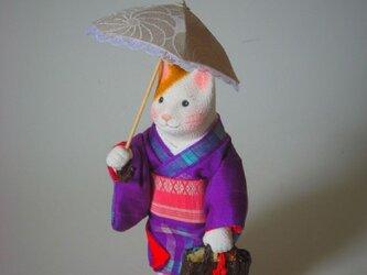 縮緬福猫 日傘 その三十四の画像