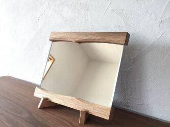 ゆらぎミラー M (ウォールミラー 木製 鏡 木枠 ミラー 姿見)の画像