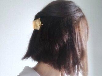 浴衣に合う真鍮の簪*三角形×槌目模様の画像