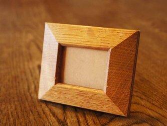 楢の木の四角いミニ額 (MG1) の画像
