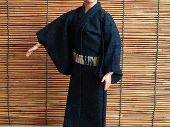 ケン着物 濃紺の浴衣の画像
