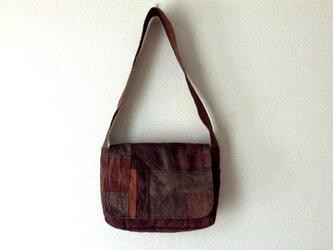 つないでつないで柿渋斜め掛けかばん - 柿渋染めのショルダーバッグの画像