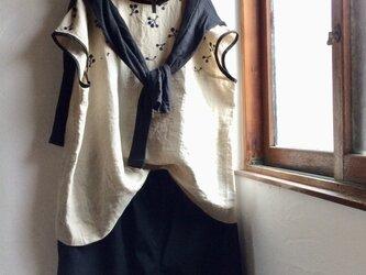 Y様ご予約品 ゆらゆらギャザースカート 生成り×イエロー&フレンチスリーブブラウス2点の画像