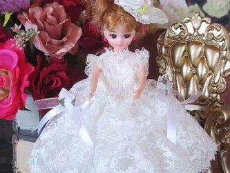 soldキュートなホワイトロリータメイド♡フワフワのボリューミーワンピースの画像
