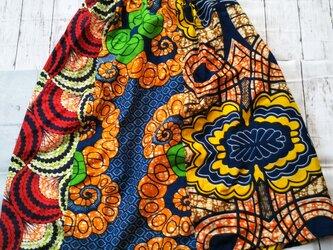 アフリカ布でスカートの画像