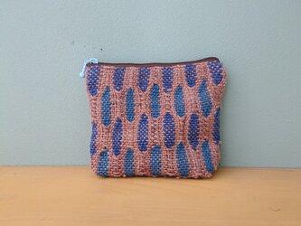 めがね織りのポーチの画像