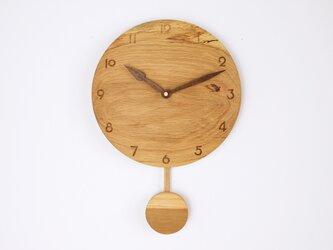 木製 振り子時計 楢材9の画像