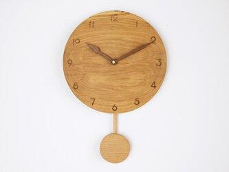 木製 振り子時計 楢材10の画像