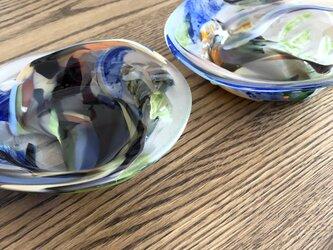 彩美器 ①/ガラス皿/ガラス器の画像
