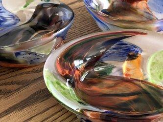 彩美器 ④/ガラス皿/ガラス器の画像