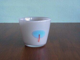 小径グラス B グレー×ターコイズの画像