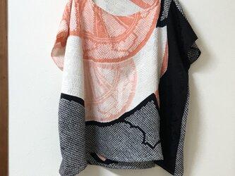 正絹 着物リメイク プルオーバーの画像