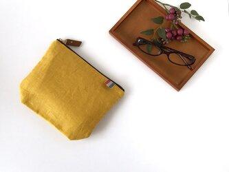 リネンポーチ(yellow)の画像