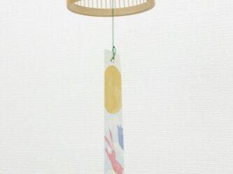 「風鈴」駿河竹千筋細工南部鉄器・釣り鐘型 白 の画像