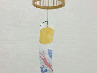 「風鈴」駿河竹千筋細工南部鉄器・筒型 白 の画像