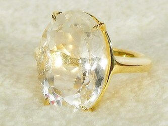 ヒマラヤ水晶とSV925の指輪(ご注文を頂きましてからの作製になります。サイズやメッキなど、ご相談下さい)の画像