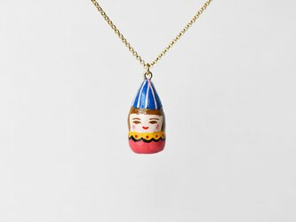 青いパーティ帽子のひとネックレスの画像