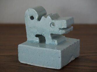 干支 戌 犬 オブジェ 青磁 送料込み価格の画像