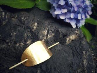 浴衣に合う真鍮の簪*楕円形×槌目模様の画像