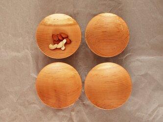木の小皿 桜材3 4枚セットの画像