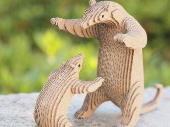 【工作キット】段々動物園-ミナミコアリクイの親子の画像