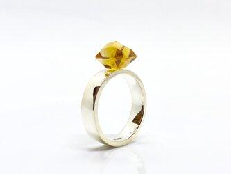 黄水晶(シトリン)シルバーリングの画像