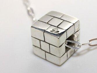 ブロック・ペンダントトップ シルバーの画像