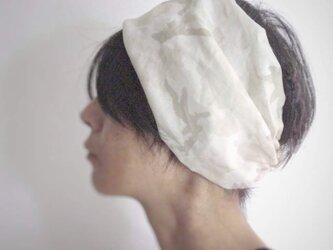 ターバンなヘアバンド スィートカモフラージュ 送料無料の画像