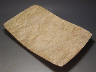 楓玉杢 四方盛器 木地磨き仕上げの画像
