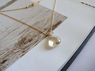 14KGF 希少石!宝石質スキャポライト necklacesの画像