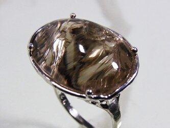スモーキークォーツ * Crashed Quartz Ring Vlの画像