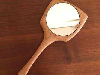 手鏡 <ホワイトオーク>の画像