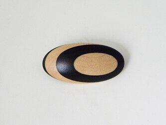 ブローチ -シマコクタン・メープル楕円-の画像