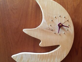 moon wall clock horse chestnutの画像