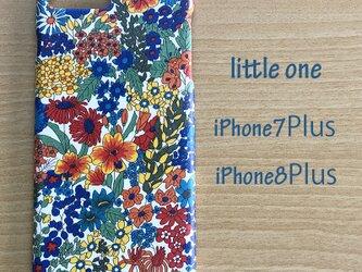 【リバティ生地】Margaret Annie青 iPhone7Plus iPhone8Plusの画像