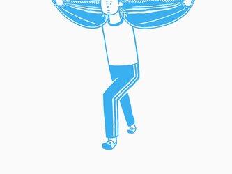 私は飛ぶことができます。 【 水色 Tシャツ 】の画像