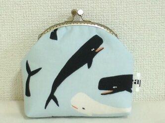 がま口ポーチM(マッコウクジラ)の画像