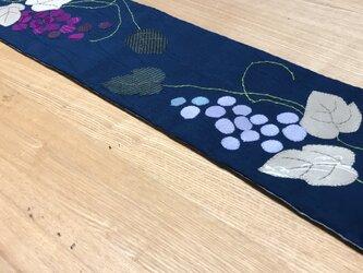 受注製作 ヴィンテージ夏着物のテーブルセンター 葡萄の画像