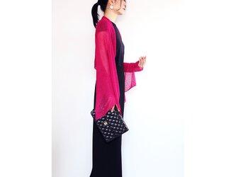 ◆即納◆Rigel[リゲル] 袖付きストール / フューシャ・ピンクの画像