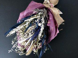 Lavender swag dryflowerの画像
