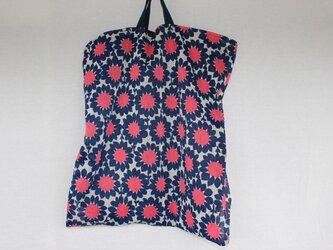 リメイク*レトロな花柄のぺたんこバッグの画像