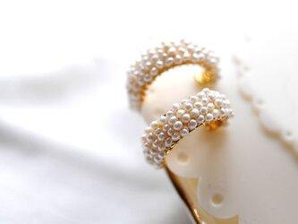 淡水真珠フーブイヤリング の画像