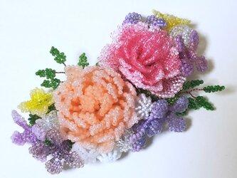 バレッタ Bouquet  (オレンジダリア)の画像