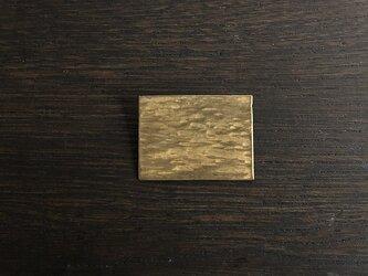 真鍮の四角ブローチの画像