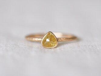 Yellow Jasmine Marron Diamond Ringの画像