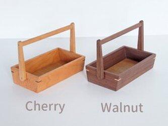 ハンドルボックス (カトラリーケース・スパイス・調味料入れ) ウォルナットの画像
