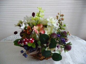 sold  秋の花かご(小)の画像