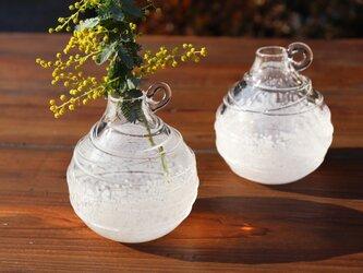 「花色一輪挿し ホワイト」 ガラスの贈り物 ギフト  母の日の画像
