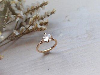 Only One!Water spiritual Herkimar Diamond Ring -7- /K10YGの画像